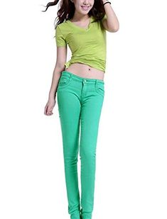Pantalones Vaqueros De La Moda De Flaco Moda La Bastante De Cintura Alta  Pantalones De Mezclilla 64809b15148