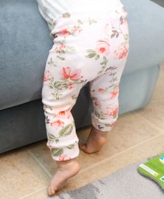 Baby Girl Floral Cuffed Leggings by SugarPlumLaneBaby // love the print