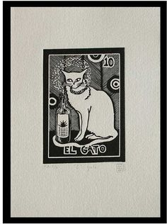 Novica The Cat Tequila Lotto by Marina Pallares Graphic Art & Reviews | Wayfair