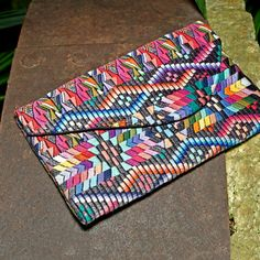 Recycled Huipile Geo Envelope Clutch **altiplano