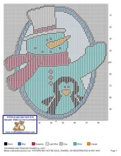 Snowman & Penguin Framed Pg 2/2