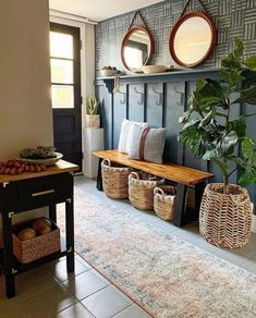 Home Decor Inspiration, Entryway Decor, Home Projects, Home And Living, Home Remodeling, Diy Home Decor, Decoration Home, Home Decorations, Living Room Decor