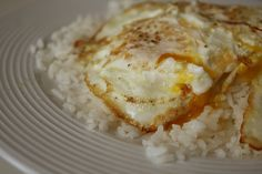 Rice with a Fried Egg ...it is yummy!