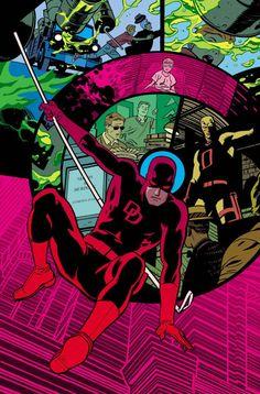 Portada para la cabecera de Daredevil por Chris Samnee.