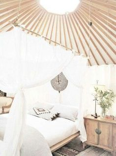 Amazing bohemian yurt interior