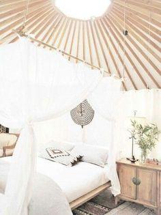 Amazing bohemian yurt interior