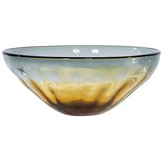 Glass Bowl Amber/Gray Other Vessels Bowls & Boxes (355 BRL) ❤ liked on Polyvore featuring home, home decor, decorative accessories, grey bowl, gray bowl, grey home decor, gray home decor and glass bowl