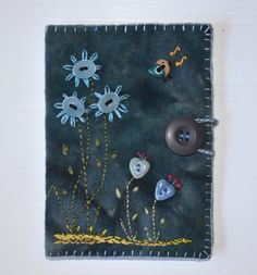 Singing Bird needle book by sandymairart on Etsy