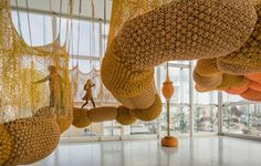 Another amazing interactive textile installation by Ernesto Neto: Madness is Part of Life