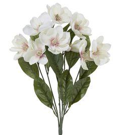 $4.00 Spring Floral 22'' Magnolia Bush CreamSpring Floral 22'' Magnolia Bush Cream,