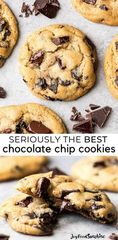 This is the best chocolate chip cookie recipe ever. No funny ingredients, no chilling time, etc. Just a simple, straightforward, amazingly delicious, doughy yet still fully cooked, chocolate chip cookie that turns out perfectly every single time! #cookies #chocolatechipcookies #baking #recipe #chocolate
