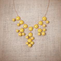 Urban Peach Boutique | Mustard Mini Bubble Necklace $17.95