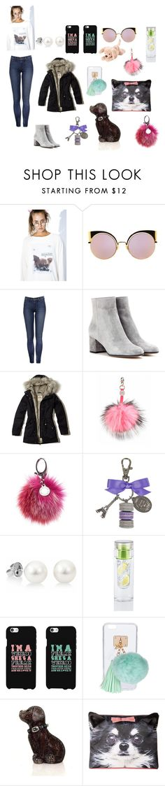 """""""Puppy love"""" by charlotte-artemjev ❤ liked on Polyvore featuring Wildfox, Fendi, Gianvito Rossi, Hollister Co., Charlotte Simone, Rebecca Minkoff, Ladurée, Ashlyn'd, Judith Leiber and Charlotte Olympia"""