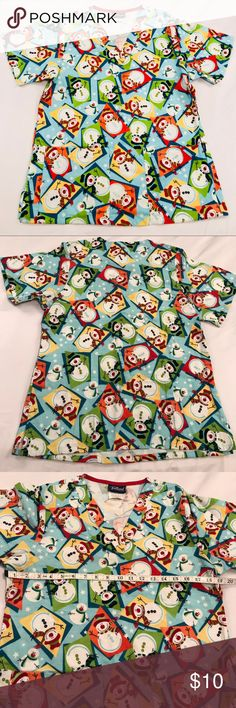 c1ef60b2270 ✂️CLEARANCE ✂ SCRUBS FLEECE SNOWMAN'S SIZE XS TAFFORD UNIFORM SCRUBS FLEECE  SNOWMAN'S SIZE XS 2 POCKETS EXCELLENT CONDITION FAST SHIPPING Tafford Other