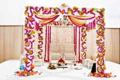 Colorful Mandap #mandapstyle #indianweddinginspiration #indianweddingmandaps