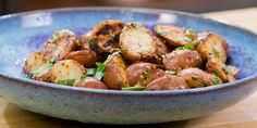 Grilled Potatoes with Mustard-Garlic Dressing