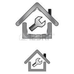 logotipo inmobiliaria: icono de inicio de color gris con la llave