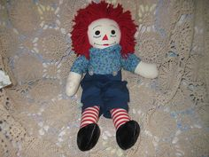 Vintage Raggedy Andy Doll Hand Made by Daysgonebytreasures on Etsy, $18.00