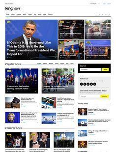 King News - Multipurpose Website Template News Website Design, News Web Design, Web News, Website Layout, Website Themes, Blog Design, Website Ideas, Website Sample, Web Layout