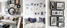 great idea for hanging frames Hanging Picture Frames, Picture Wall, Frame Placement, Photo Arrangement, Frame Layout, Hanging Art, Photo Displays, Family Room, Living Spaces