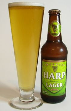 Harp -- a light Irish lager that is pretty easy to find, although it's not as well known as it's darker, more popular kin