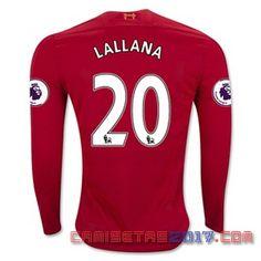 Camiseta manga larga Lallana Liverpool 2016 2017 primera