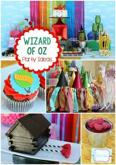 Wizard of Oz Party Ideas from playpartypin.com including some of the most creative ideas like a cornfield made from licorice and ruby red slipper cake pops