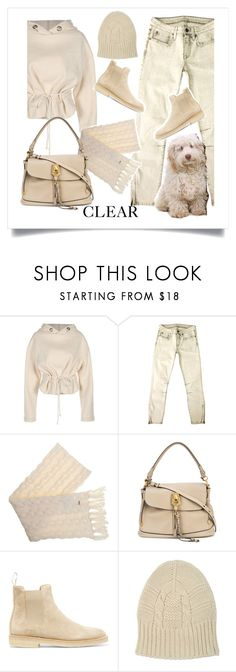 """""""My little cream baby.........."""" by style-stories ❤ liked on Polyvore featuring Helmut Lang, Woolrich, Chloé, Common Projects and Beaumont Organic"""