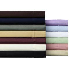 Solid Wrinkle Resistant 300 Thread Count Cotton Sheet Set   Sale: $31.49