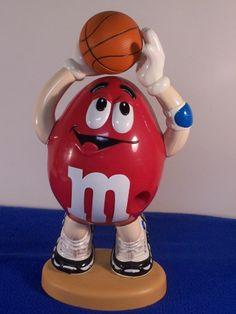 RARE RED M-M BASKET BALL CANDY DISPENSER