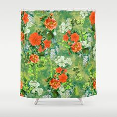 Tropical Garden Shower Curtain #floral #tropical #home #art #bathroom #summer