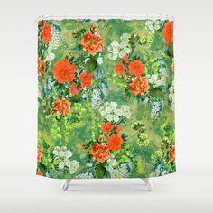 Tropical Garden Shower Curtain #floral #tropical #home #art #bathroom #summer