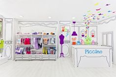 Adorable cartoon-like children's store design