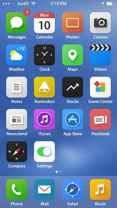 iOS 7 Re-design Concepts for new Experience | Graphics Design | Design Blog