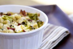 Only 5 net carbs for this delicious, simply gorgeous broccoli, bacon, chicken casserole.