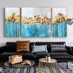3 pieces wall art Original Gold painting abstract flower Acrylic painting bilder Painting On Canvas green Wall Pictures dinning room decor 3 Piece Canvas Art, 3 Piece Wall Art, Diy Canvas Art, Acrylic Painting Canvas, Painting Frames, Canvas Wall Art, Painting Abstract, Painting Flowers, Acrylic Flowers