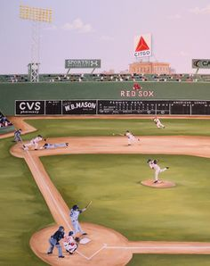 Close Up of the Fenway Park Mural by Renee MacMurray