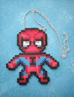 Spider-man Perler Necklace. $12.00, via Etsy.