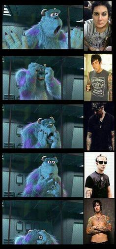 Yes! Lol avenged sevenfold A7X and the fact that his name just so happens to be ''james sullivan'' mmhm.