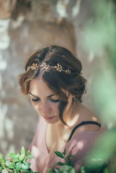 Gold Leaf Bridal Headband Wedding Headband Olive by LadySelvaShop Head Wrap Headband, Boho Headband, Wedding Headband, Olive Wedding, Boho Wedding, Wedding Ideas, Boho Headpiece, Gold Tiara, Elastic Headbands