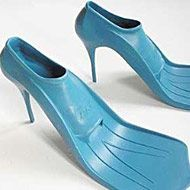 wonder what it would be like in the pool? #shoes