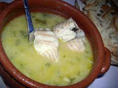 Sopa de Cação, Alentejo, Portugal . It´s a fish soup