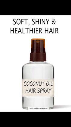 Beauty Hacks Ideas : Coconut Hair Mist- for dry, frizzy and damaged hair Coconut Oil Hair Spray, Coconut Hair, Coconut Oil Uses, Coconut Milk Shampoo, Dry Coconut, Diy Hair Mist, Diy Beauty, Beauty Hacks, Fashion Beauty