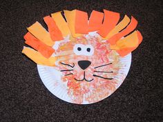 paper plate lion from @rainydaymum #crafts