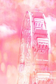 Pink Ferris Wheel Prints Dreamy Baby Girl Pink by KathyFornal
