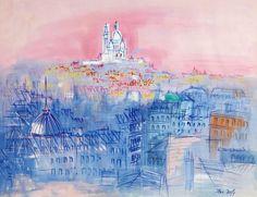 VUE DU SACRE COEUR  \\ Jean Dufy, France. (1888-1964 )