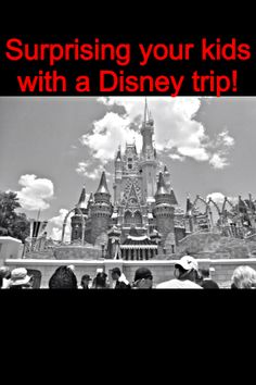 Surprise your kids with a Disney Trip. Wake up, have the bags in the car and then tell them you are flying to Disneyland! Disney Tips, Disney Fun, Disney Magic, Disney Parks, Disney 2015, Disney Planning, Disney Stuff, Disney World Magic Kingdom, Disney World Vacation