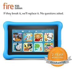 Don't miss this chance to buy the best fire kids edition tablet 7 display wi-fi 16 gb blue kid-proof case.You came to the right place to fi Best Tablet For Kids, Kids Tablet, Tablet 7, Kindle Fire Kids Edition, Tablets For Toddlers, Star Wars, Amazon Kindle Fire