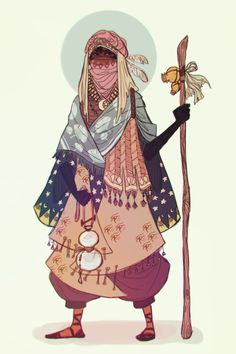 Desert Reaper / Gives you water in exchange for your life. (bluejamjarart)