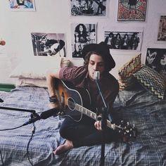 bedroom, boy, cute, grunge, guitar, hipster, indie, love, music, perfect, rock, style Bad Boy Aesthetic, Neon Aesthetic, Aesthetic People, Music Aesthetic, Chico Indie, Good Girl Bad Boy, Cool Kidz, Guitar Boy, Indie Boy